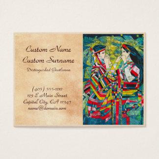 Hao-Klingeln-stiller Nachtton, zum von zwei Damen Visitenkarte