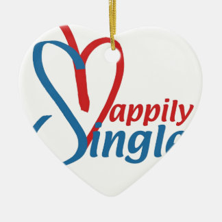 HappilySingle™ Keramik Herz-Ornament