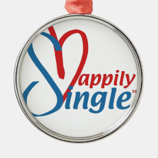 HappilySingle™ Rundes Silberfarbenes Ornament
