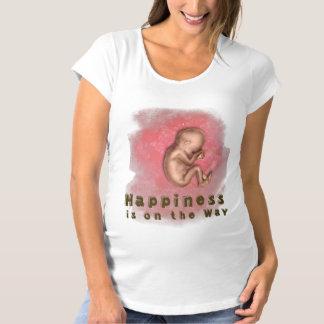Happiness is on the way. schwangerschafts T-Shirt