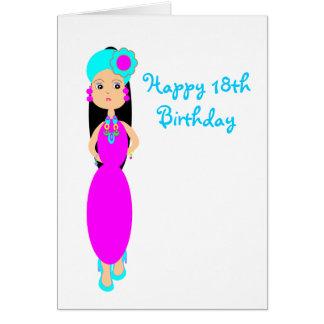 Happy18th Geburtstags-Gruß-Karte Karte
