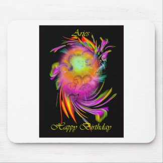 Happy Birthday Aries Mousepads