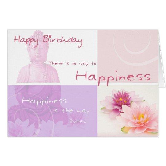 Happy Birthday Buddah Karte