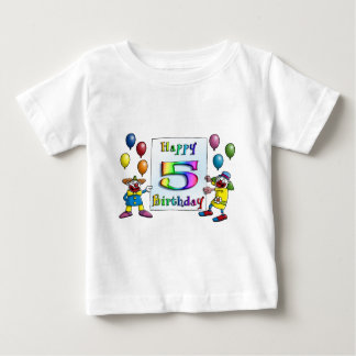 happy birthday children  - clowns baby t-shirt