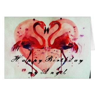 Happy Birthday - Flamingo Grußkarte/greeting card Karte