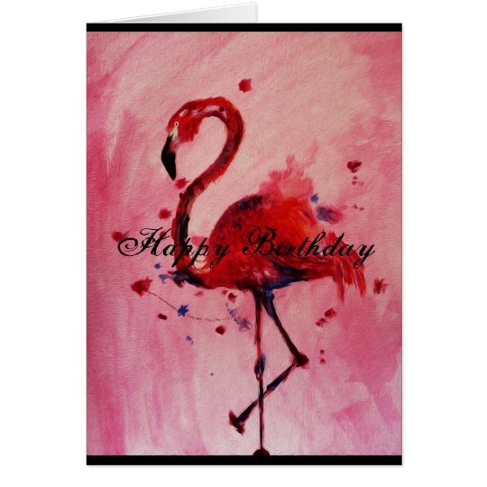 Happy Birthday - Flamingo Grußkarte/greeting card Karte