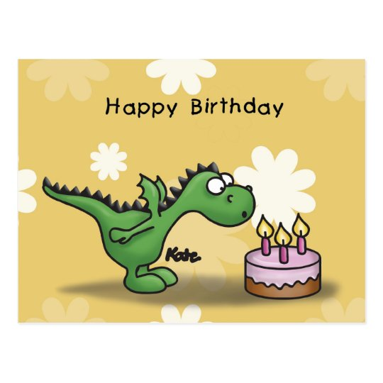 Happy Birthday - Little Dragon Postkarte