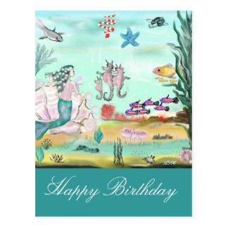 Happy Birthday Märchen Postkarte