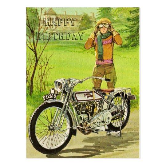 HAPPY BIRTHDAY MOTORCYCLE POSTKARTE