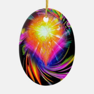 Happy Birthday Sagittarius Ovales Keramik Ornament