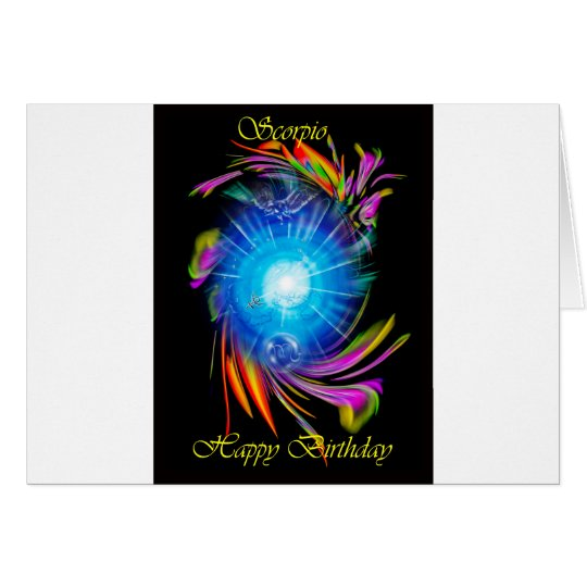Happy Birthday  Scorpio Karte