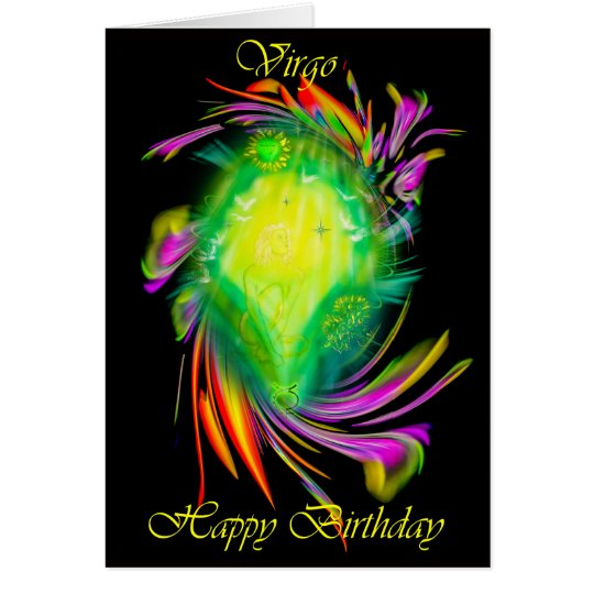 Happy Birthday Virgo - Jungfrau Karte