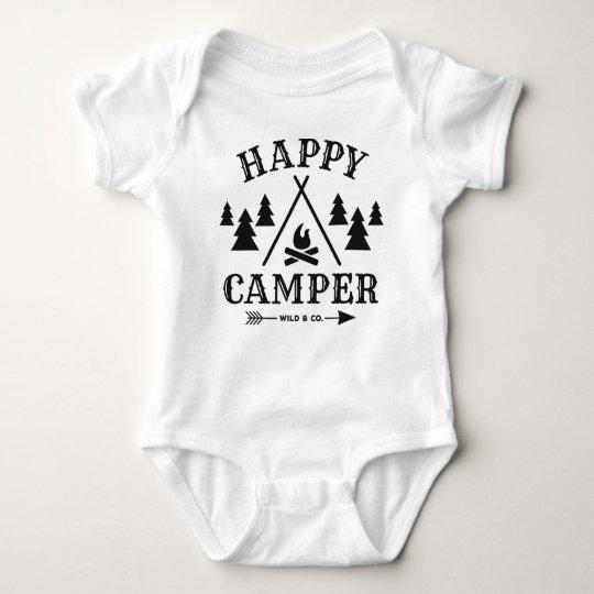 Happy Camper Baby Strampler