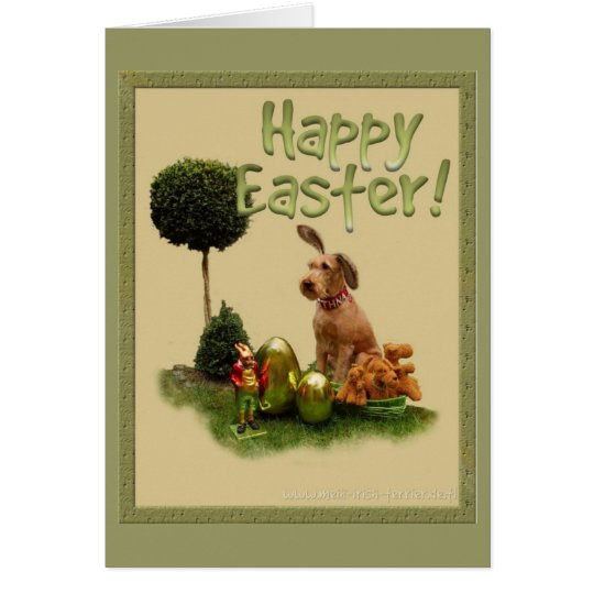 """Happy Easter """"Irish Terrier"""" Karte"""