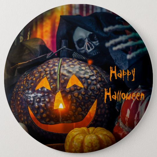 Happy Halloween Runder Button 15,3 Cm