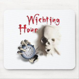 happy halloween witching hour breakout skeleton mousepad