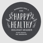 Happy Healthy Holiday   Gift Tag Stickers