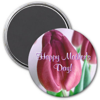 Happy Mother's Day Rosey Tulips Magnet