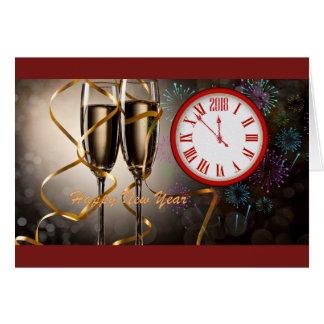 Happy New Year-2018 Karte