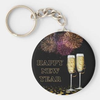 Happy New Year - Champagne Schlüsselanhänger