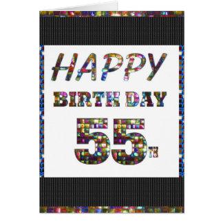 happybirthday alles Gute zum Geburtstag 55 55. Karte