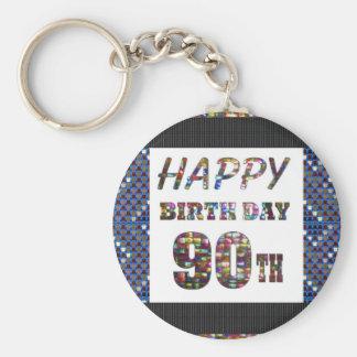 happybirthday alles Gute zum Geburtstag 90 90. Schlüsselanhänger