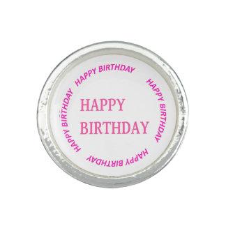 happyBIRTHDAY alles Gute zum Geburtstag Rosa-Kreis Foto Ring