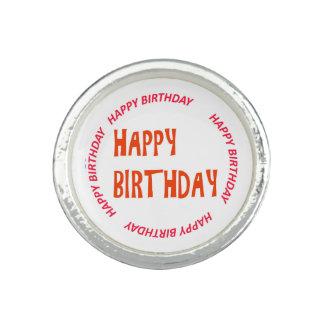 happyBIRTHDAY alles Gute zum Geburtstag Rosa-Kreis Ring
