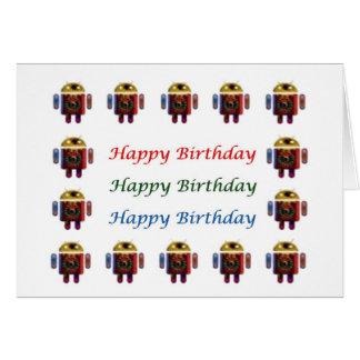 HappyBirthday ANDROIDES alles Gute zum Geburtstag Grußkarte