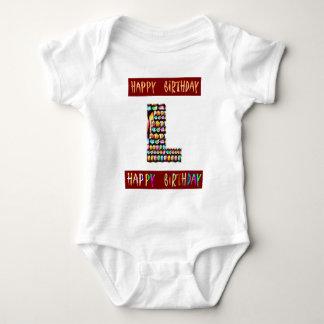 HappyBirthday Skript - ALPHAalphabet dekorativ Baby Strampler