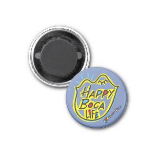HappyBoca Leben Runder Magnet 3,2 Cm