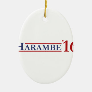 Harambe 16 ovales keramik ornament