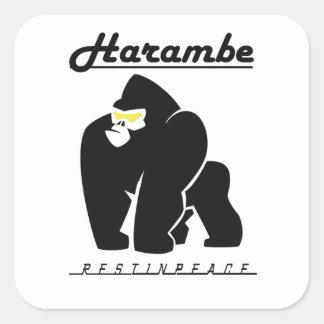 HARAMBE ERHOLUNG IM FRIEDENST - Shirt Quadratischer Aufkleber