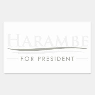Harambe für Präsidenten Rechteckiger Aufkleber