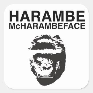Harambe McHarambeface Quadratischer Aufkleber