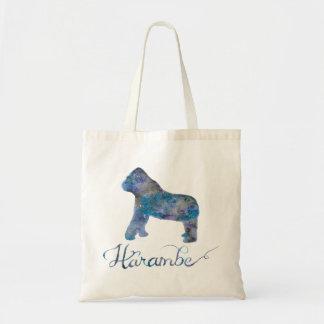 Harambe Watercolor-Taschen-Tasche Tragetasche
