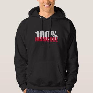 Hardcore 100% kapuzensweatshirt