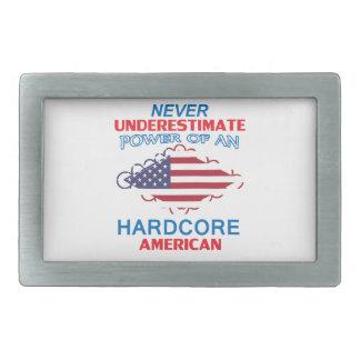 hardcore Amerika Rechteckige Gürtelschnalle