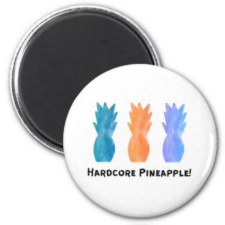 Hardcore-Ananas Runder Magnet 5,1 Cm