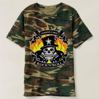 Hardcore-Rock-and-Rollschädel und -gitarren T-shirt