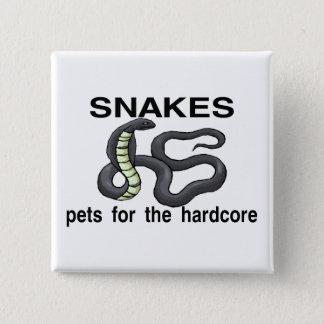 Hardcore-Schlangen Quadratischer Button 5,1 Cm