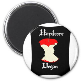 Hardcore-veganer Apple-Entwurf Runder Magnet 5,7 Cm