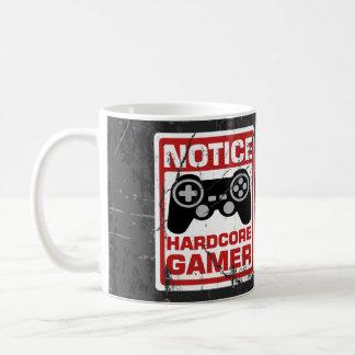 Hardcoregamer-Mitteilungs-Schild Tasse