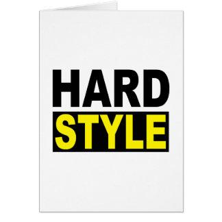 Hardstyle Grußkarte