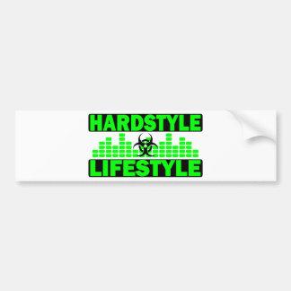 Hardstyle Lebensstil hazzard und Tempoentwurf Autoaufkleber
