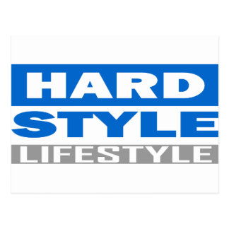 Hardstyle Lebensstilentwurf Postkarte