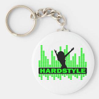 Hardstyle Tänzer-Tempoentwurf Standard Runder Schlüsselanhänger