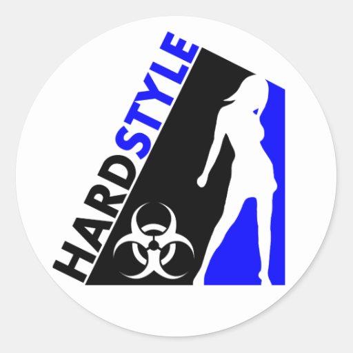 Hardstyle Tänzer- und Biogefährdungentwurf Aufkleber