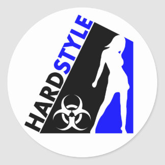 Hardstyle Tänzer- und Biogefährdungentwurf Runder Aufkleber