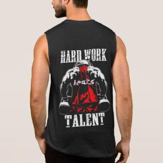 Hardwork schlägt Talent-Turnhallenmotivation Ärmelloses Shirt